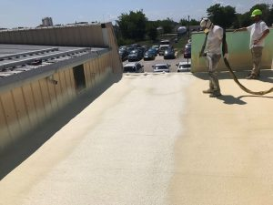 Spraying in a foam roof over an old roofing system provides a fantastic upgrade.
