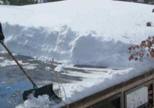 Snow Removal from Roofs and Docks