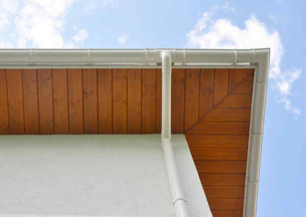 Close up on new Soffit Board, Fascia Board