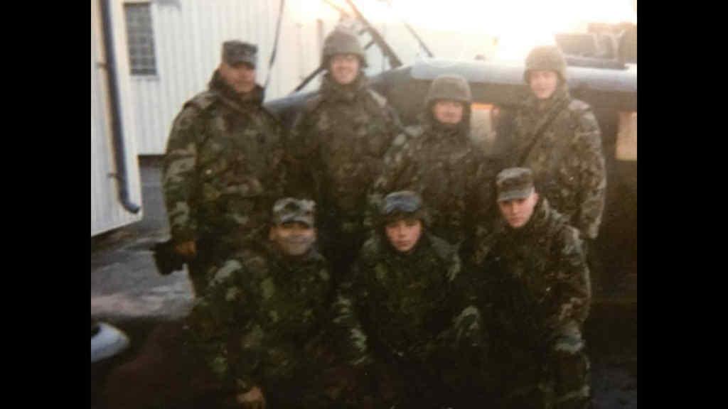 Darrell Elliot and some veteran buddies