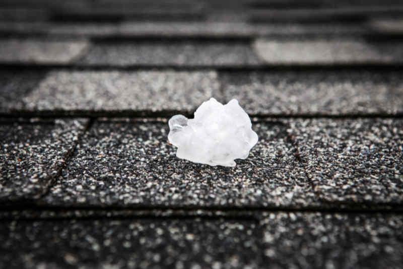 Hail Damage to Shingles