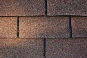 Close-up swatch of 3 tab shingles