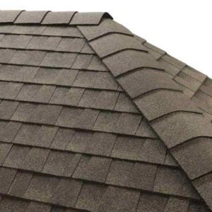 Architectural shingles on a dutch hip style roof