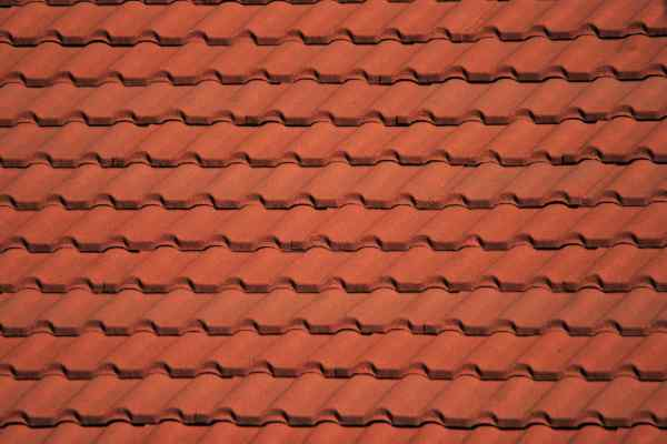 Clay terracotta roof tiles