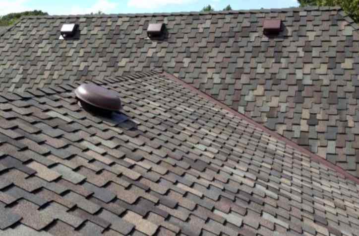 Pan vents on a rooftop