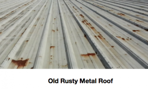 Repair a rusty metal with a seamless spray foam covering.